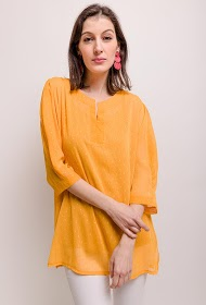 VETI STYLE blouse and plumetis
