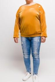 VETI STYLE buttoned velvet blouse
