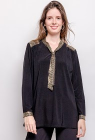 VETI STYLE blouse with lavaliere collar