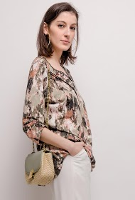 VETI STYLE geprinte stretch blouse