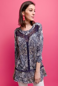 VETI STYLE printed stretch blouse