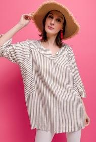VETI STYLE shiny striped blouse