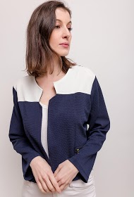 VETI STYLE two-tone stretch robe