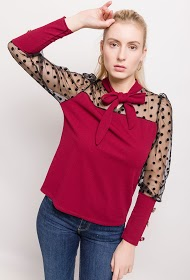 WILLY Z bi-material blouse