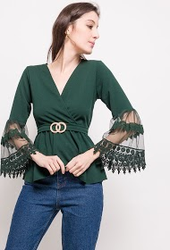 WILLY Z wrap blouse