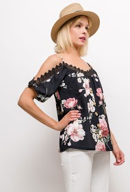 WILLY Z flower blouse