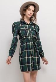 WILLY Z vestido de camisa xadrez