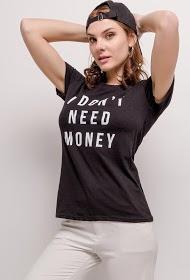 WILLY Z t-shirt i don't need money