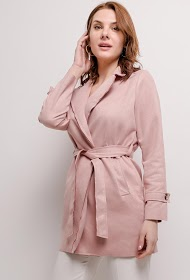 WILLY Z suede effect trench