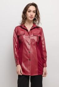 WILLY Z jaqueta de couro sintético