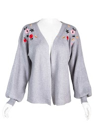 WISH BY ANJEE ribbed knit cardigan