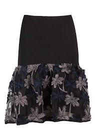WISH BY ANJEE embroidered flounce skirt