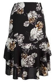WISH BY ANJEE ruffle print skirt