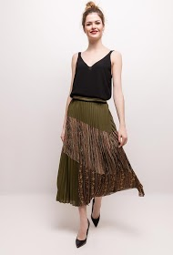 WISH BY ANJEE pleated printed skirt