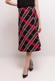WISH BY ANJEE checked midi skirt