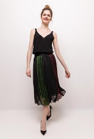 WISH BY ANJEE pleated and iridescent midi skirt