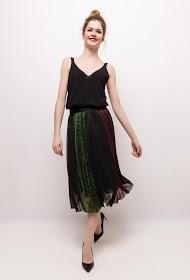 WISH BY ANJEE pleated and iridescent midi skirt