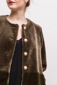 WISH BY ANJEE bi-material coat