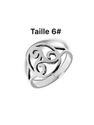 Z. EMILIE triskell steel ring