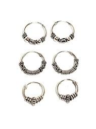 Z. EMILIE silver hoop earring 1.6x14mm