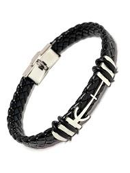 Z. EMILIE braided steel bracelet anchor