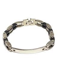Z. EMILIE rubber steel bracelet to engrave