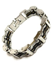 Z. EMILIE rubber steel bracelet