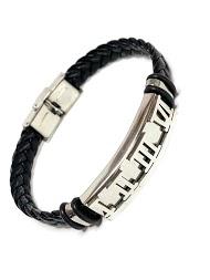 Z. EMILIE braided steel bracelet with roman numeral