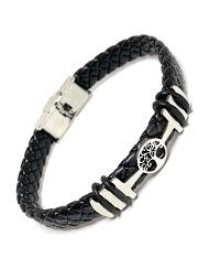Z. EMILIE braided steel bracelet tree of life