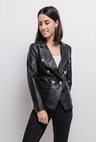 ZAC & ZOÉ faux leather blazer