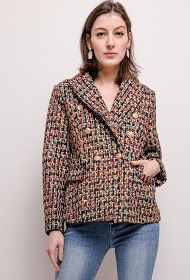 ZAC & ZOÉ blazer en tweed brillant