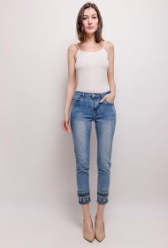 ZAC & ZOÉ jeans med broderi