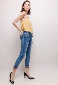 ZAC & ZOÉ jeans met geborduurde enkels