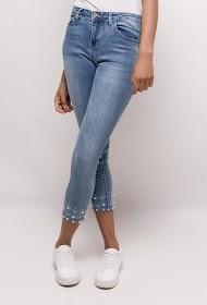 ZAC ET ZOÉ skinny jeans with rhinestones and tassels
