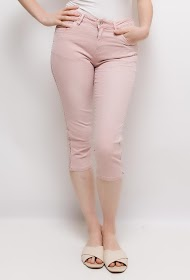 ZAC ET ZOÉ cropped trousers with side bands in studs