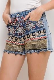 ZAC ET ZOÉ bestickte jeansshorts