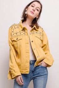 ZAC & ZOÉ studded jakke med frynser