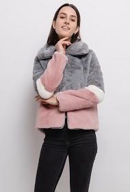 ZAC ET ZOÉ color block fur jacket