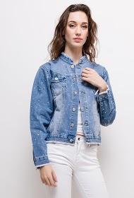 ZAC ET ZOÉ jacke in jeans mit strassen