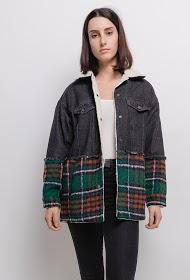 ZAC & ZOÉ fur jacket with checks