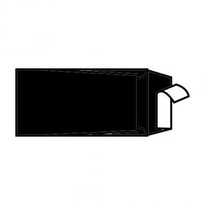 BUSTA REFIT WOOL BLACK 22x11cm STRIP FAVINI}