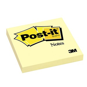POST-IT NOTES CANARY GIALLO CANARIO 7.6x7.6cm