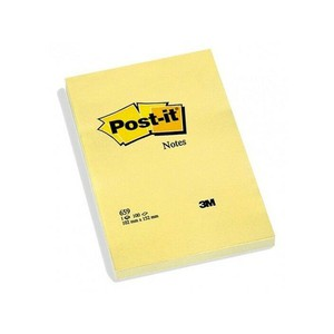 POST-IT NOTES CANARY LARGE GIALLO CANARIO 10.2x15.2cm}
