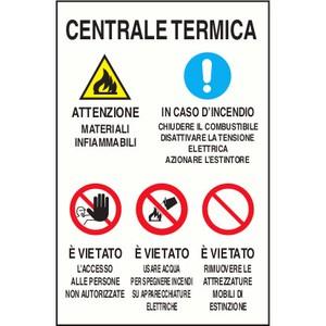 CARTELLO SEGNALETICO AVVERTIMENTO 1454B ALLUMINIO 33cm x 50cm