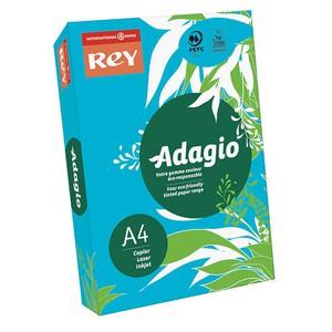REY - ADAGIO A4 AZZURRO INTENSO 51 80gr}