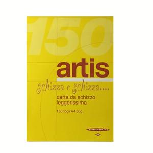 BLOCCO PER SCHIZZI ARTIS Liscio 150 FOGLI 21x29.7cm A4 50gr