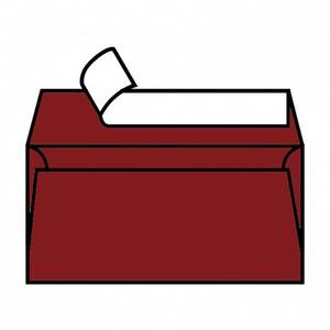 BUSTA MAJESTIC RED SATIN 11x22cm DL STRIP FAVINI