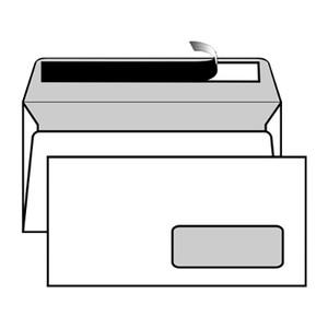 BUSTA BIANCOFLASH BIANCO BRILLANTE PREMIUM STRIP CON FINESTRA 11x22cm DL 120gr FAVINI}