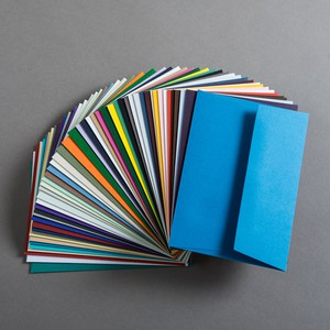 BUSTA COLORPLAN LAID AZURE BLUE 11.4x16.2cm C6 STRIP GF SMITH
