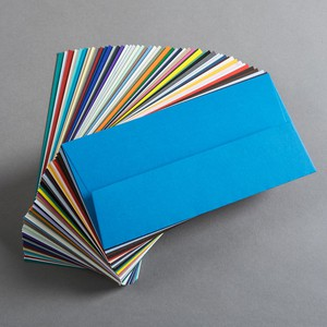 BUSTA COLORPLAN MATRIX AZURE BLUE 11x22cm DL GOMMATA GF SMITH